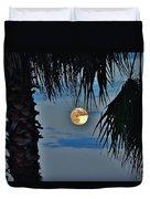 Full Moon Palm Tree 5 9/17 Duvet Cover