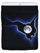 Full Moon Silver Lining Duvet Cover
