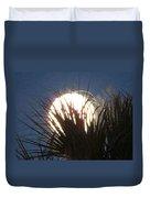 Full Moon Through The Palms Duvet Cover
