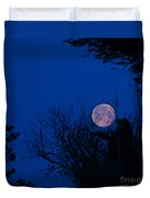 Full Moon With Trees Duvet Cover