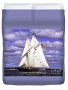 Full Sails Ahead Duvet Cover