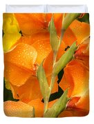 Full Stem Gladiolus Duvet Cover