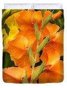 Full Stem Gladiolus Duvet Cover