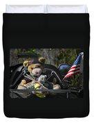 Full Throttle Teddy Bear Duvet Cover by Christine Till