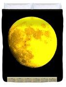 Full Yellow Moon 2014 Calendar Duvet Cover