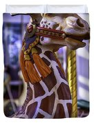 Fun Giraffe Carousel Ride Duvet Cover