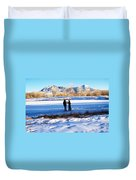 Fun On The Ice Duvet Cover