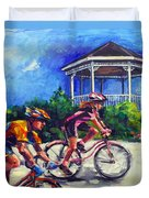 Fun Time In Bicycling Duvet Cover