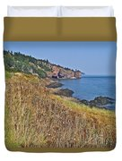Fundy Bay Coastline Near Cliffs Of Cape D'or-ns Duvet Cover