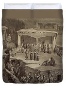 Funeral Ceremony In The Ruins Duvet Cover