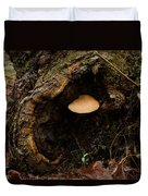 Fungus In A Knothole Duvet Cover