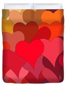 Funky Hearts Duvet Cover