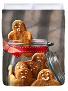 Funny Gingerbread Men Duvet Cover