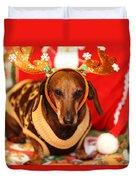 Funny Looking Reindeer Duvet Cover