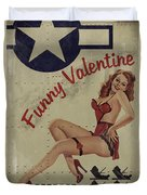 Funny Valentine Noseart Duvet Cover