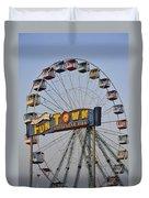 Funtown Ferris Wheel Duvet Cover