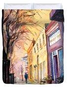 Fuquay-varina Downtown Duvet Cover