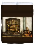 Furniture - Fireplace - A Simple Fireplace Duvet Cover by Mike Savad