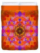 Fushia Yantra Diamond Mandala Duvet Cover