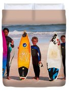Future Surfing Champs Duvet Cover