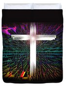 Futuristic Cross Pattern Duvet Cover