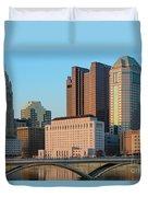 Fx1l922 Columbus Ohio Skyline Photo Duvet Cover