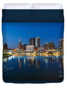Fx2l472 Columbus Ohio Night Skyline Photo Duvet Cover