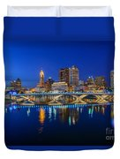 Fx2l530 Columbus Ohio Night Skyline Photo Duvet Cover