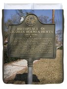 Ga-005-10 Birthplace Of Charles Holmes Herty 1867-1938 Duvet Cover