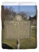 Ga-005-28 Cemetery Square Duvet Cover