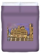 Gabled Buildings In Grand Place Duvet Cover