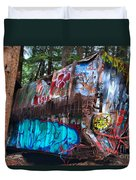 Gaffiti In The Candian Forest Duvet Cover