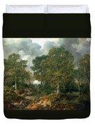 Gainsboroughs Forest Cornard Wood, C.1748 Oil On Canvas Duvet Cover