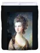 Gainsborough's The Hon. Mrs. Thomas Graham Up Close Duvet Cover