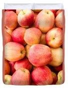 Gala Apples On Display Duvet Cover