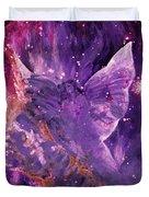 Galactic Angel - Rose Duvet Cover