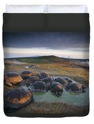 Galapagos Giant Tortoise Wallowing Duvet Cover