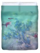 Galapagos Islands From Under Water Duvet Cover