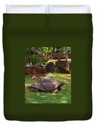 Galapagos Turtle At Honolulu Zoo Duvet Cover