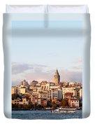 Galata Skyline 02 Duvet Cover