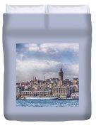 Galata Tower Istanbul Duvet Cover