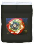 Galaxy With Solar Systems Duvet Cover