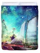 Galileo's Dream - Schooner Art By Sharon Cummings Duvet Cover