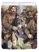 Gallant Piper Leading The Charge Duvet Cover