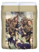Gallant Piper Leading The Charge Duvet Cover by Cyrus Cuneo