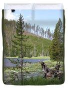 Gallatin River Yellowstone  Duvet Cover