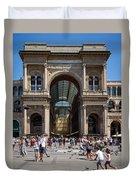 Galleria Vittorio Emanuele. Milan Duvet Cover
