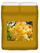 Gallery Fine Art Prints Yellow Orange Rhodies Duvet Cover