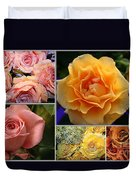 Beautiful Roses- A Collage Duvet Cover