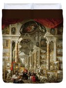 Gallery With Views Of Modern Rome Duvet Cover